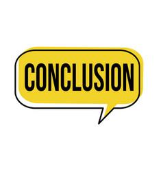 Conclusion speech bubble vector