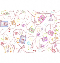 cool hand drawn mp3 players vector image vector image