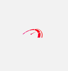 Creative abstract red logo icon speedometer car vector