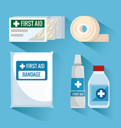 emergency first aid icons vector image