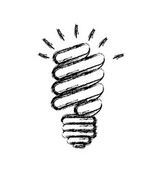 Energy save bulb power icon vector
