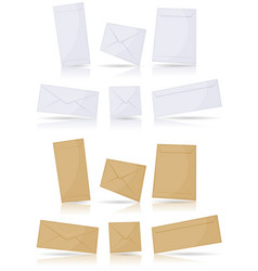 envelopes set vector image