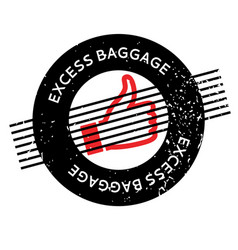 Excess baggage rubber stamp vector