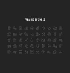 farming business set vector image