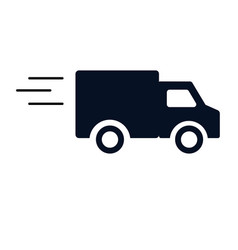 Fast delivery truck icon on white background vector