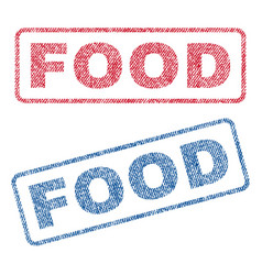 food textile stamps vector image