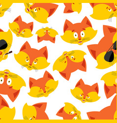 fox head pattern animal background ornament face vector image