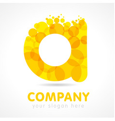 gold a company logo concept vector image