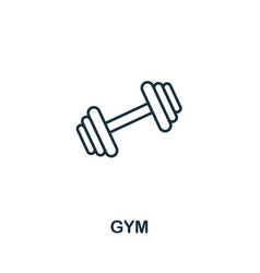 gym icon thin outline style design from fitness vector image