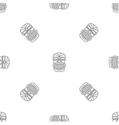 Hawaii idol head pattern seamless vector