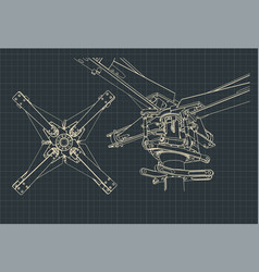 Helicopter rotor drawings vector
