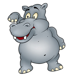 Hippo Waving Goodbye vector image