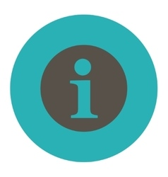 Information flat grey and cyan colors round button vector