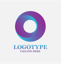 isolated colorful circular shape logo vector image