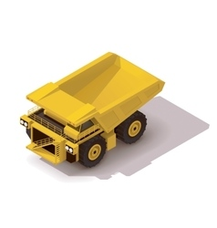 Isometric haul truck vector
