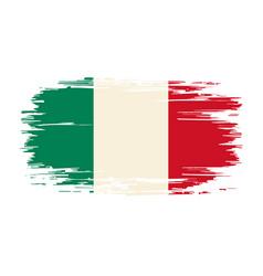 italian flag brush grunge background vector image