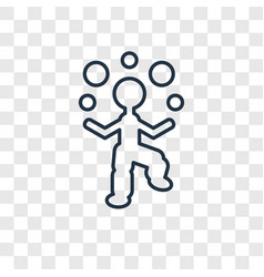 Juggler man concept linear icon isolated on vector
