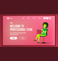 Landing web page design website business vector