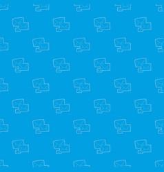 Letter pattern seamless blue vector