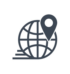 local seo glyph icon vector image