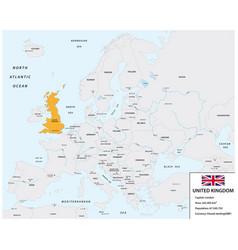 Location united kingdom map vector