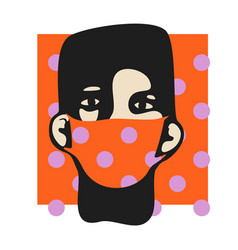 Male face 03 in mask vector