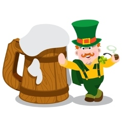 Man in the Irish pub St Patrick s Day vector