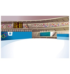 Olympics Ice Stadium vector image