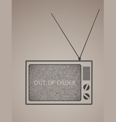 out of order vector image