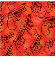 pistol pattern vector image