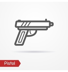 Pistol silhouette icon vector image