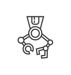 Robotic surgery line icon vector