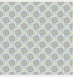 Seamless geometric and floral pattern vector