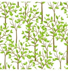 Seamless pattern with garden tress Background vector image vector image