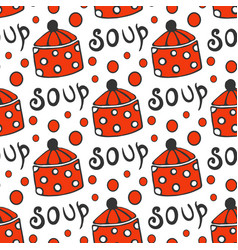 Seamless pattern with retro pots background for vector