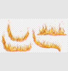 Set fire flames vector