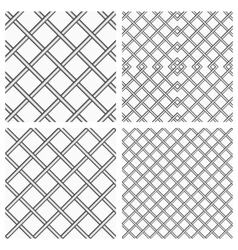 Set of Metal Grids as Seamless Background vector image