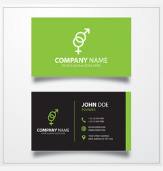 Sex gender icon business card template vector
