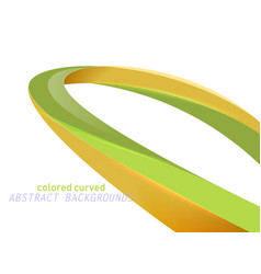 Shiny colored curved scene vector