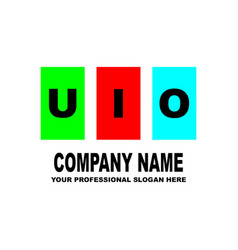 simple logo the three letters uio are located on vector image