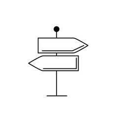 Sing arrows traffic vacation travel icon vector