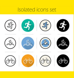 sport icons set vector image