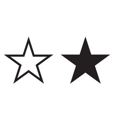 star icon geometry five-ray star line vector image