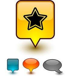 Star speech comic icons vector
