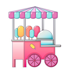 sweet dairy street shop icon cartoon style vector image