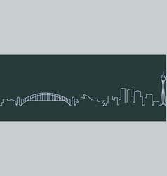 Sydney single line skyline vector