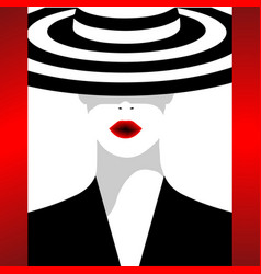 the fashionable woman in a hat vector image