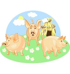 Three little pigs vector