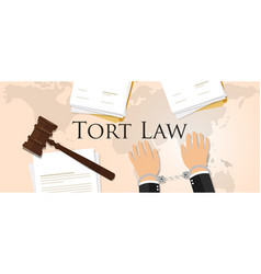 tort law concept of justice hammer gavel judgment vector image