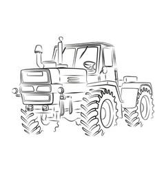 Tractor sketch vector